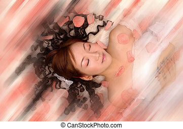 sognante, donna