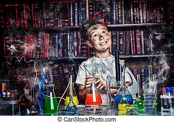 sognante, scienziato
