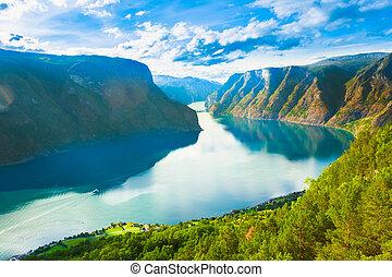sognefjord, naturaleza, fiordo, noruega