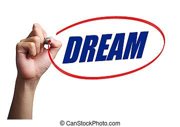 sogno, concetto, parola