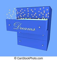 sogno, in, cassetto