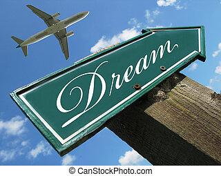 sogno, segno strada