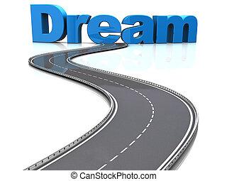sogno, strada