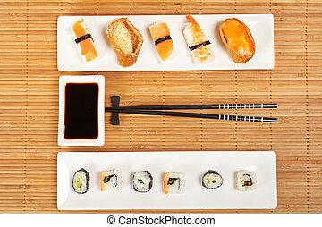 soia, sushi, salsa