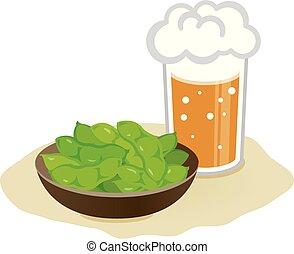 soie, birra, bollito, verde