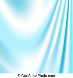 soie bleue, arrière-plans, tissu