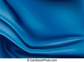 soie bleue, tissu, fond