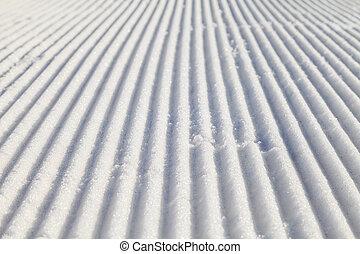 soigné, pente, ski