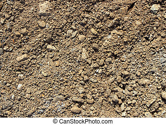 Soil and stony ground texture.