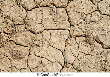 Soil background, dry chapped earth, cracks in the dried...
