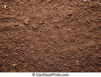 Soil background - Fresh brown soil background