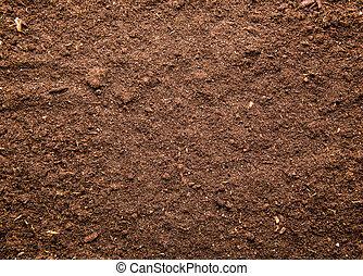 Soil background - Fresh brown soil background