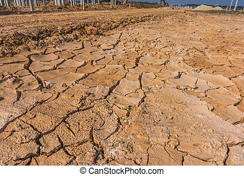 soil crack at construction site