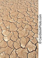 Soil detail of a dry pan, in the Sossusvlei sand dunes, Namib desert. Namibia