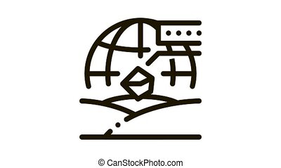 soil geography Icon Animation. black soil geography animated icon on white background