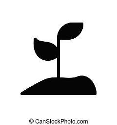 soil glyph flat icon