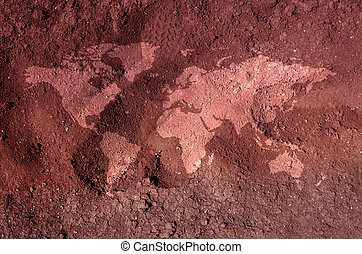 Soil map - An illustration of a soil earth map. An...