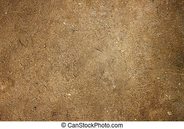 Soil on the ground as texture and background, The structure of the soil close-up.