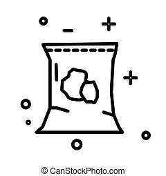 Soil pack, planting and gardening, ground package isolated line icon