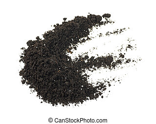 Soil pile isolated on a white background. Dirt.