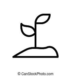 soil thin line icon
