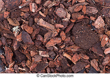 soil to plants, bark, fertilizer
