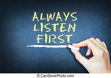 soin, écouter, suggérer, always, premier, concept, client