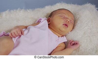 soin, bébé, baby., nouveau né, beau, sommeils, confortable, ...