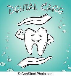 soin, main, dentaire, dent