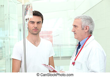 soin prenant, patient, docteur