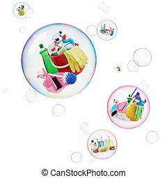 soins personnels, nettoyage