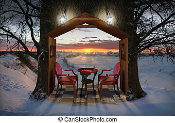 soir, hiver