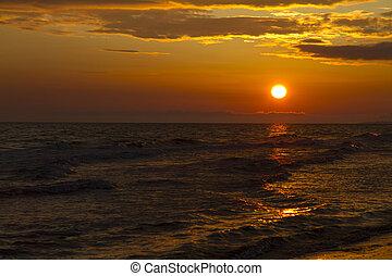 soir, mer