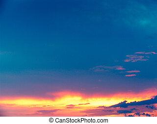 soir, nuages