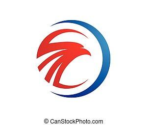 sokół, szablon, logo