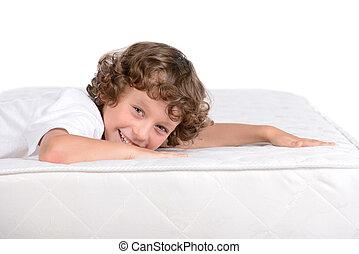 sok, gyerekek, matrac