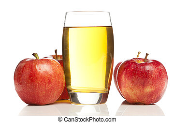 sok, organiczny, pokrzepiający, jabłko
