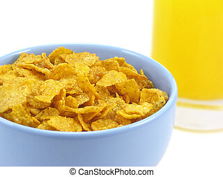 sok pomarańczowy, puchar, zboże