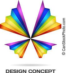 sokszínű, lepke, tervezés, fogalom