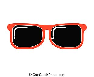 sol, ícone, óculos, vista