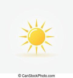 sol, ícone, ou, logotipo
