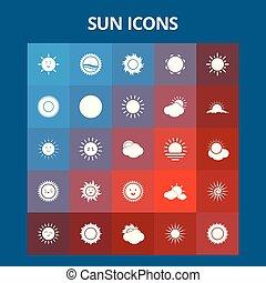 sol, ícones