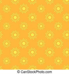 sol, ícones, seamless, padrão