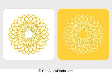 sol, abstratos, ícone
