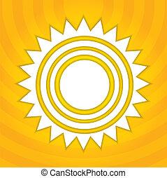 sol, abstratos, ilustração