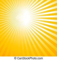 sol, abstratos, raios, fundo