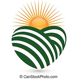 sol, agricultura, logotipo
