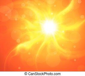 sol alaranjado, fundo