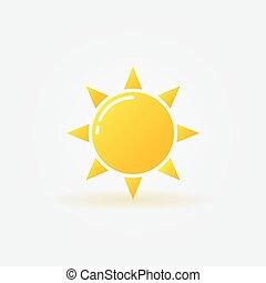 sol amarelo, ícone