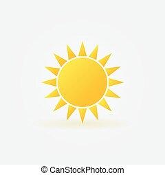 sol amarelo, logotipo, ou, ícone